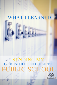What I learned sending my homeschooled child to public school.