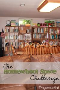 Clean and organize your homeschool space for this week's challenge