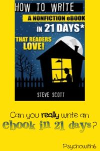 Can you really write an ebook in 21 days?