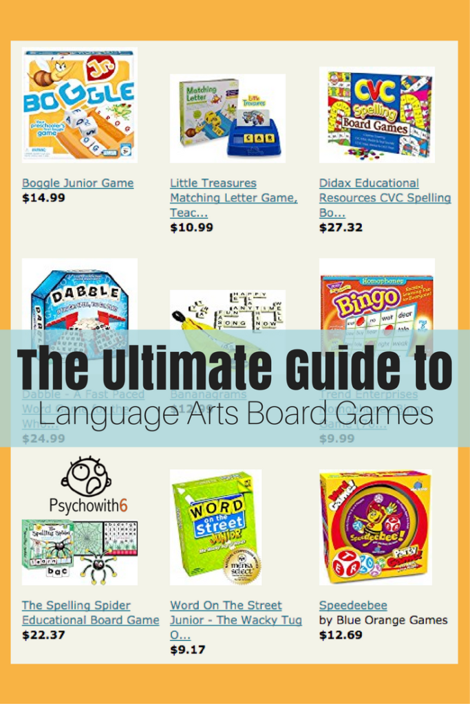 The Ultimate Guide to Language Arts Board Games