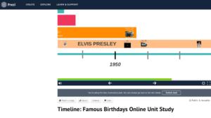 Prezi timeline project