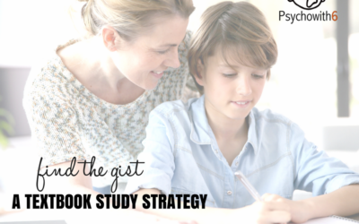 Find the Gist: A Textbook Study Strategy