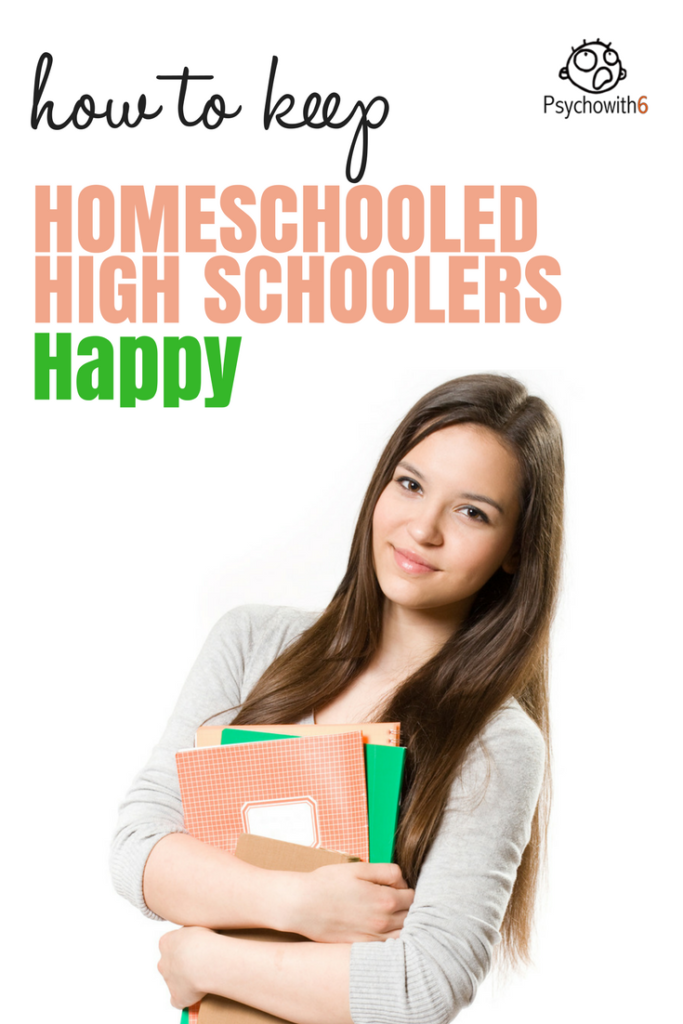 How to Keep Your Homeschooled High Schooler Happy