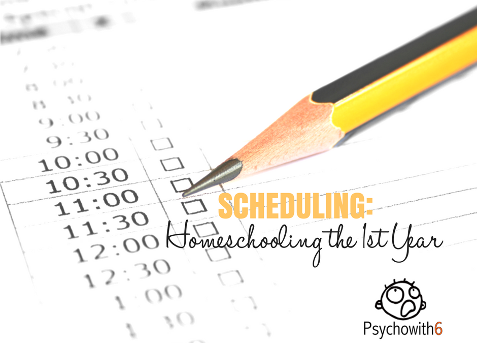 Scheduling: Homeschooling, the First Year