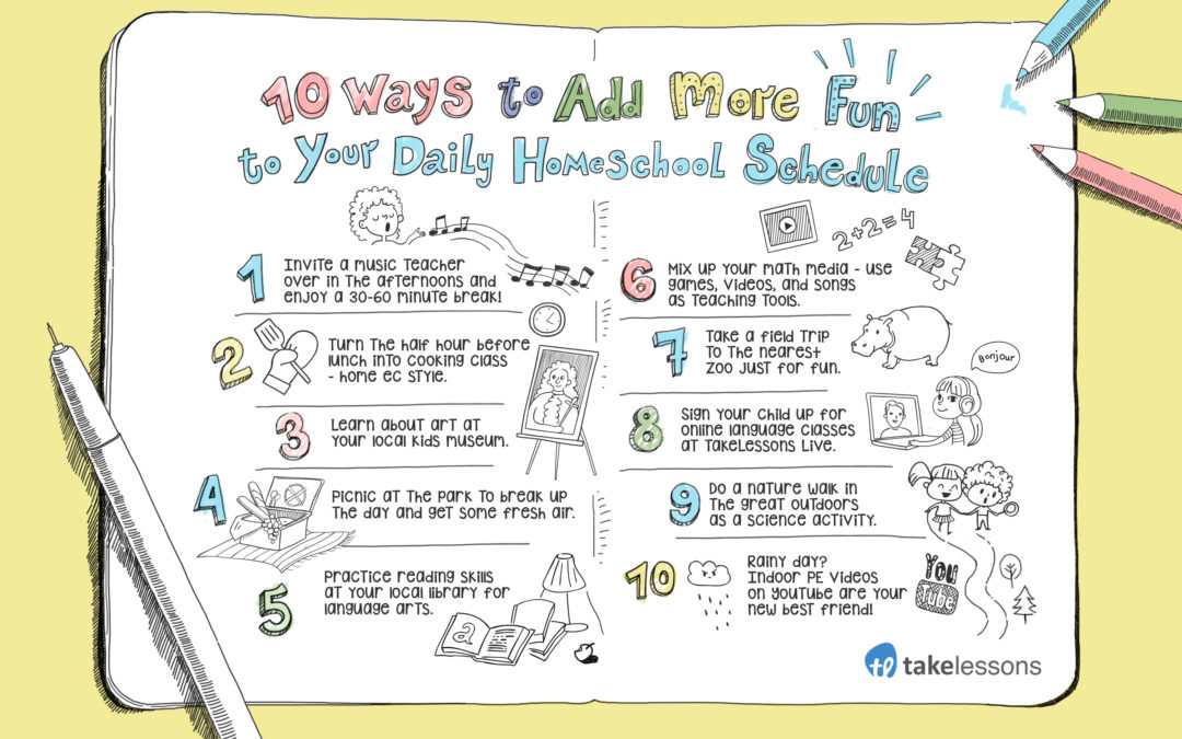 10 Fun Additions to Your Homeschool Schedule