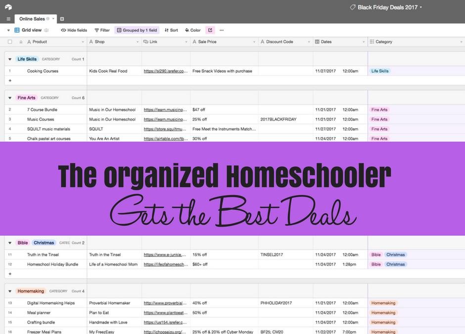 The Organized Homeschooler Gets the Deals