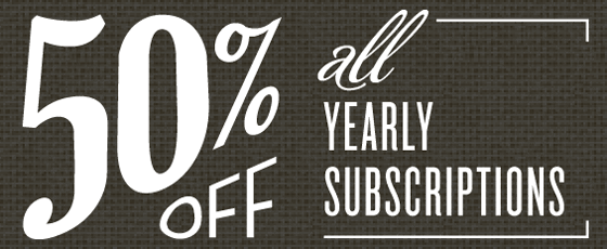 50% all Yearly Subscriptions
