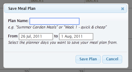save meal plan