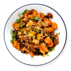 chorizo-sweet-potato-skillet