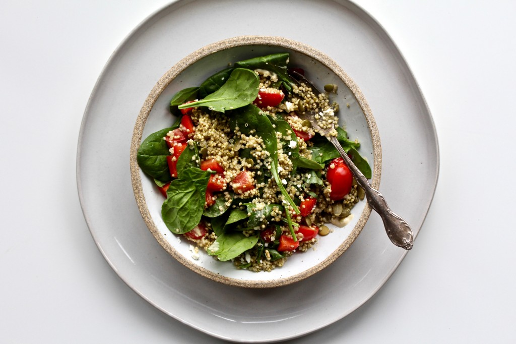 Pesto Quinoa Bowl