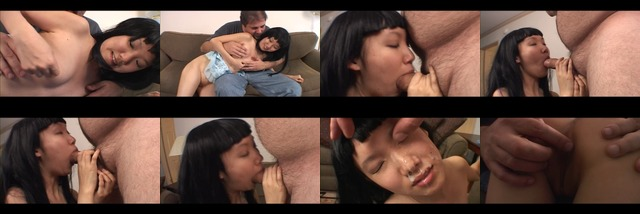 Asian sluts blowing cock and getting cum splashed