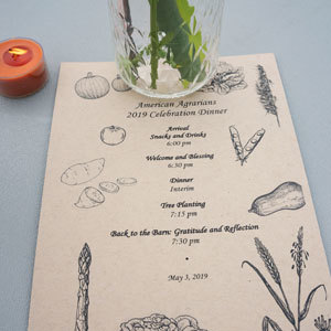 2019 Farminary Amer Agrarians Menu