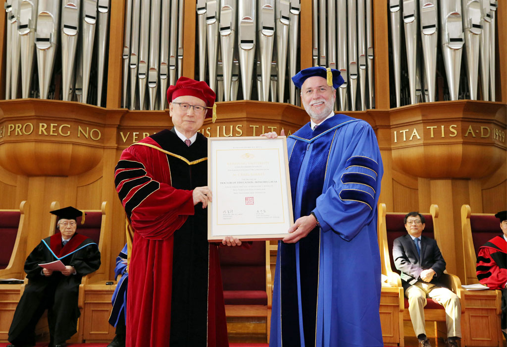 Wide Image President Barnes Honorary Doctorate
