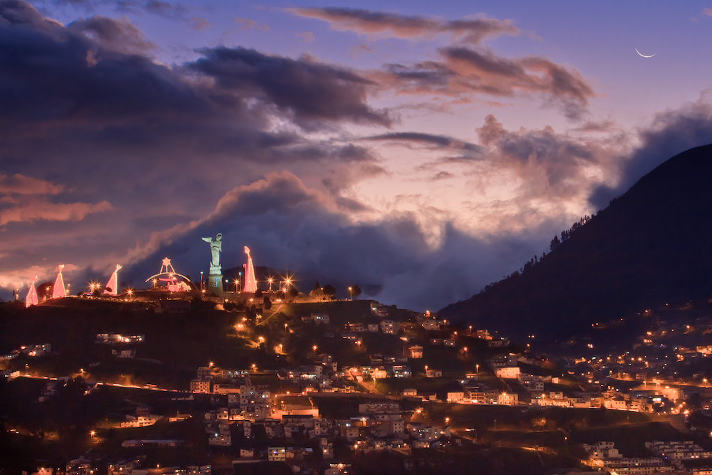 Quito at night, Ecuador.