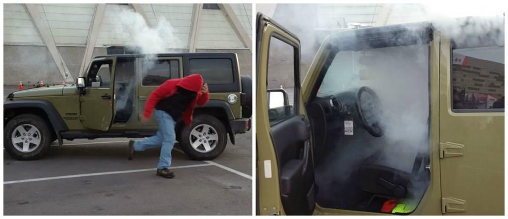 El humo o niebla, pueden ayudarte a disuadir a los ladrones a que se roben tu coche.