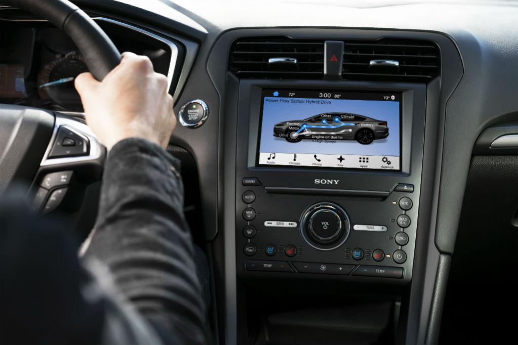 Ford Fusion pantalla central|