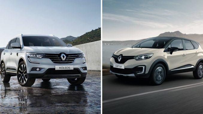 Renault KOLEOS y CAPTUR en acción