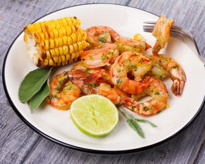 BBQ Lime Shrimp and Corn