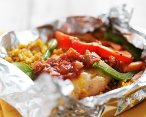 Grilled Whiskey Chicken Foil Packets
