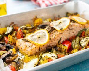 Lemon Herb Salmon with Zucchini