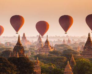 Hot Air Ballooning in Myanmar