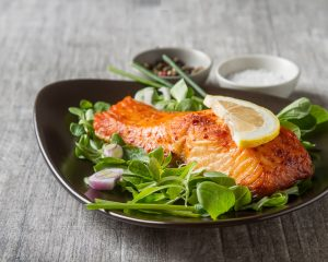 Salmon With A Side Salad