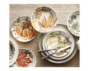 3. Harvest Pumpkin Stoneware Salad Plates