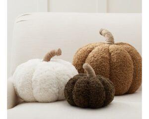 6. Cozy Pumpkin Pillows