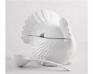 7. Turkey Soup Tureen with Ladle