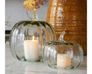 12. Recycled Glass Pumpkin Cloche