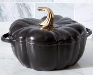 3. Black Cast Iron Pumpkin Cocotte