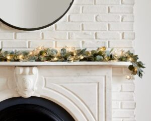 LED Metal Leaf Garland from West Elm