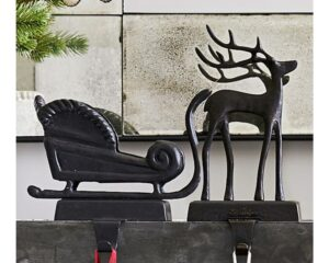 Santa's Sleigh Stocking Holders from Pottery Barn