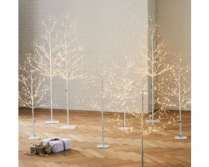 LED White Trees from West Elm