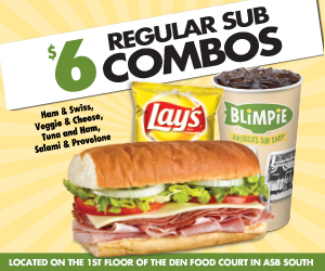 Six dollar sub combos at Blimpies.
