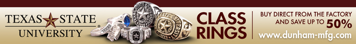 Texas State Class Rings Available