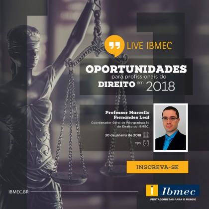Live | Oportunidades para profissionais do Direito em 2018