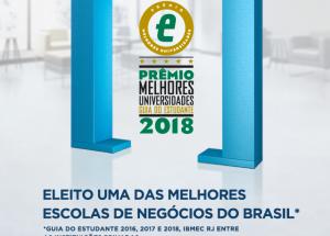 Ibmec RJ é eleito uma das melhores escolas de negócios do Brasil