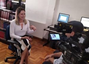 Supervisora de Carreiras do Ibmec BH, Ana Paula Veloso, concedeu entrevista para a Globo