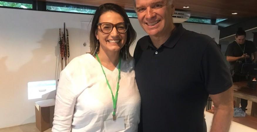 Maria Frastrone (Pró-reitora/Ibmec Rj) e Bernardinho (ex-técnico de voleibol)