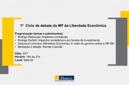 1º Ciclo de debate da MP da Liberdade Econômica