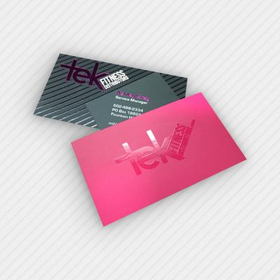 Cartão de Visita BOPP + Verniz localizado
