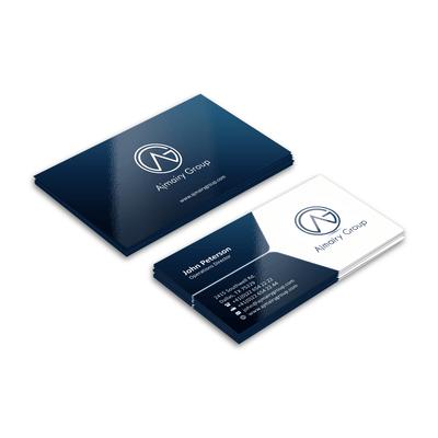 Cartão de Visita - Verniz UV Total Brilho 4x4 cores (COM VERSO)