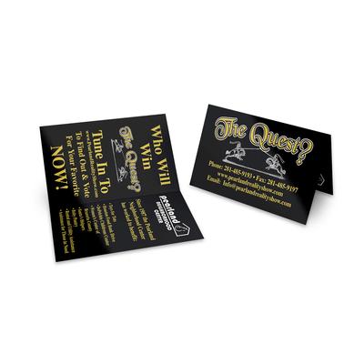 Cartão Duplo (98x88mm) - Verniz UV Total Brilho - 4x4 cores (COM VERSO)