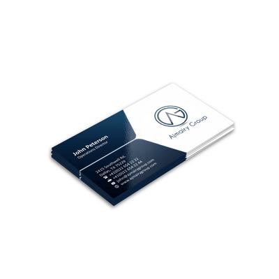 Cartão de Visita - Verniz UV Total Brilho 4x0 cores (SEM VERSO)