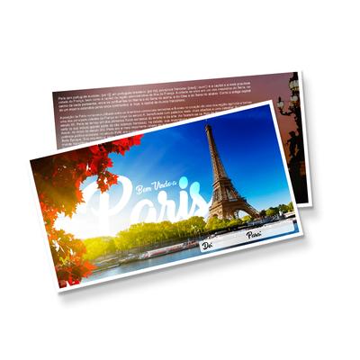 Postal Triplo (148x88mm) - Verniz UV Total Brilho - 4x4 cores (COM VERSO)