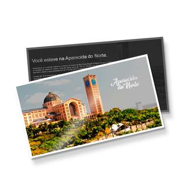 Postal Triplo (148x88mm) - Fosco + Verniz - 4x4 cores (COM VERSO)