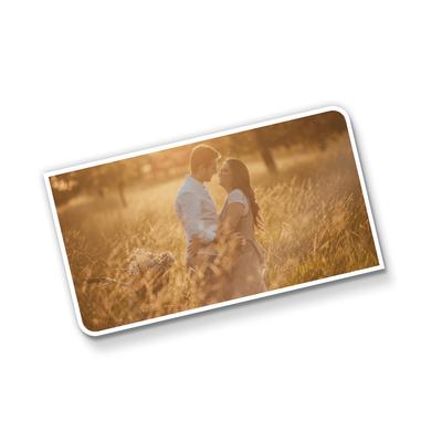 Postal Triplo (148x88mm) c/ 2 Cantos Arredondados - UV Total Brilho - 4x0 cores (SEM VERSO)