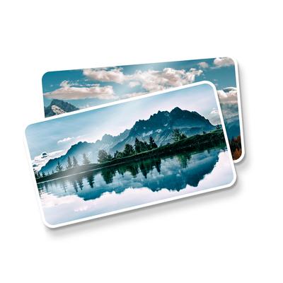 Postal Quadruplo (178x98mm) c/ 5 Cantos Arredondados - UV Total Brilho - 4x4 cores (COM VERSO)