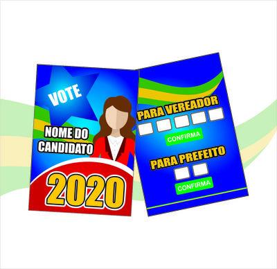 Santinhos de Propaganda Política (70x100mm) - 4x4 cores ( FRENTE E VERSO ) - 90g